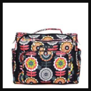 Ju-Ju-Be Be Prepared Dancing Dahlias Diaper Bag